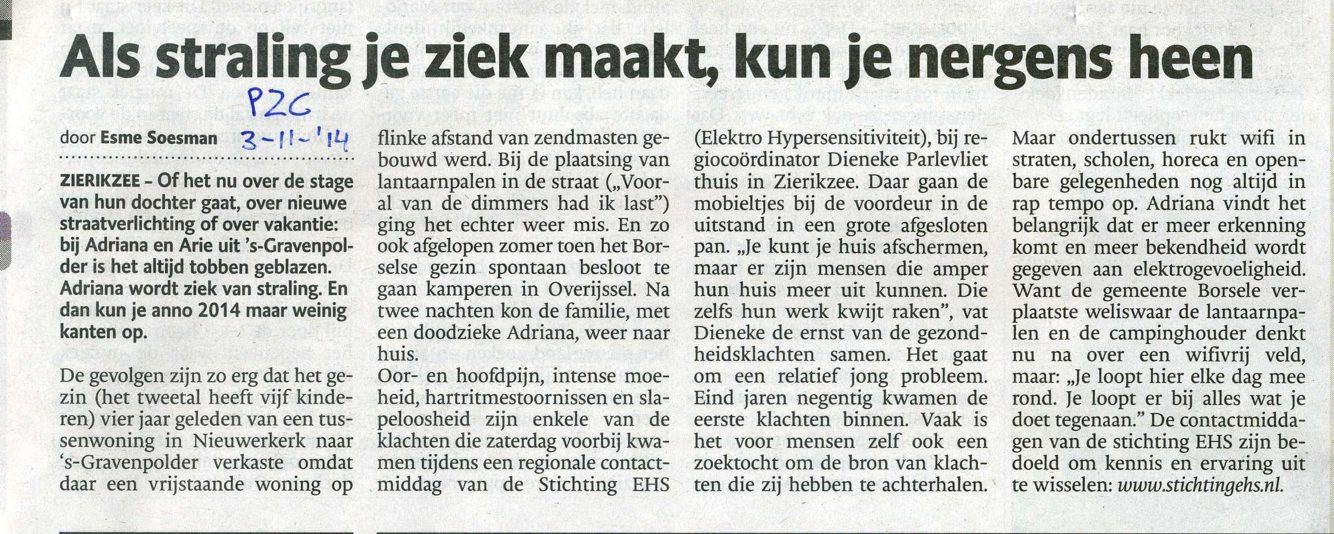 Persbericht Regiodag EHS Zierikzee